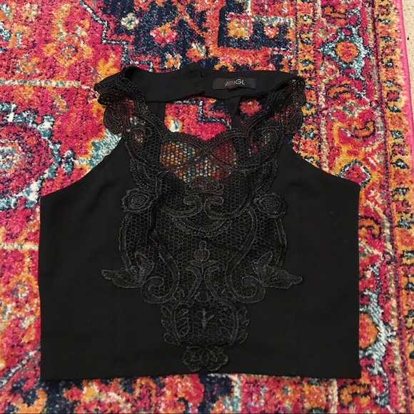 Urban Outfitters Tops - Black Lace Crop Top